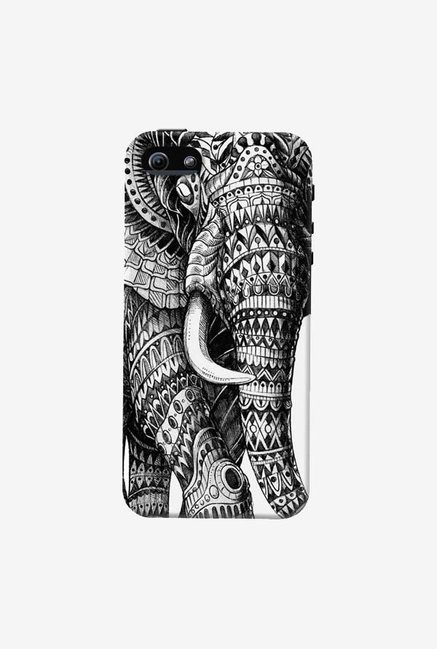 DailyObjects Ornate Black Elephant Case For iPhone 5/5S
