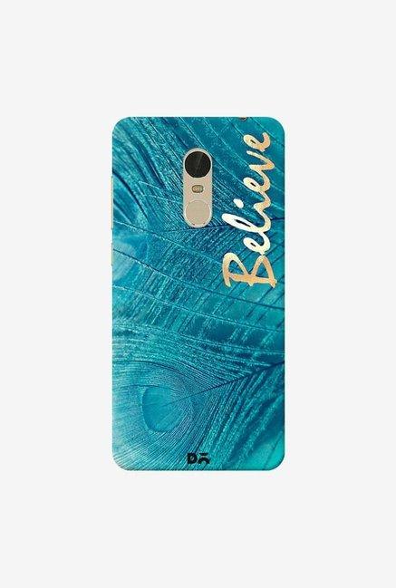 DailyObjects Believe In Aqua Case Cover For Xiaomi Redmi Note 5
