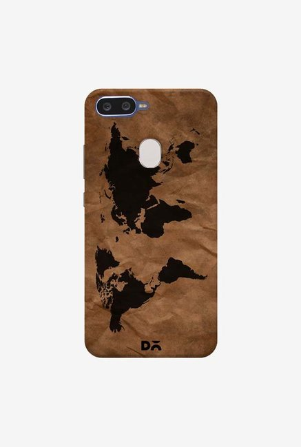 DailyObjects Wrinkled World Map Case Cover For Oppo F9