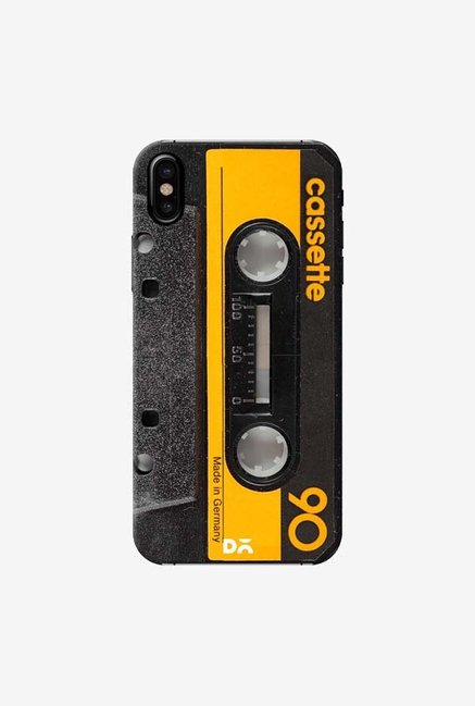 DailyObjects Cassette Yellow Case Cover For iPhone X