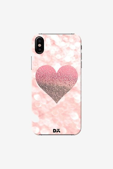 DailyObjects Champagne Heart Rose Case Cover For iPhone X