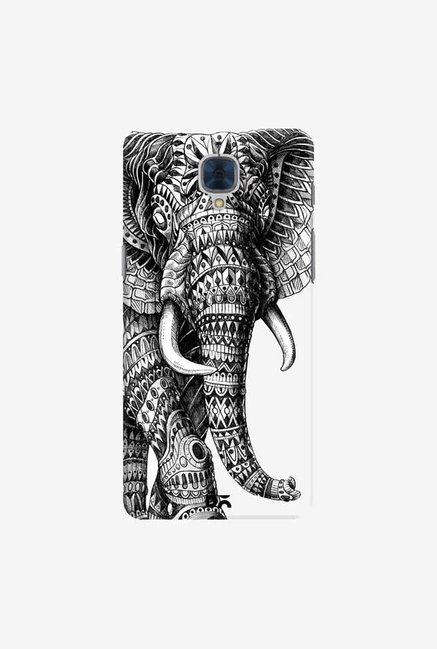 DailyObjects Ornate Black Elephant Case For OnePlus 3T