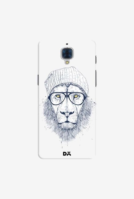 DailyObjects Cool Lion White Case For OnePlus 3T