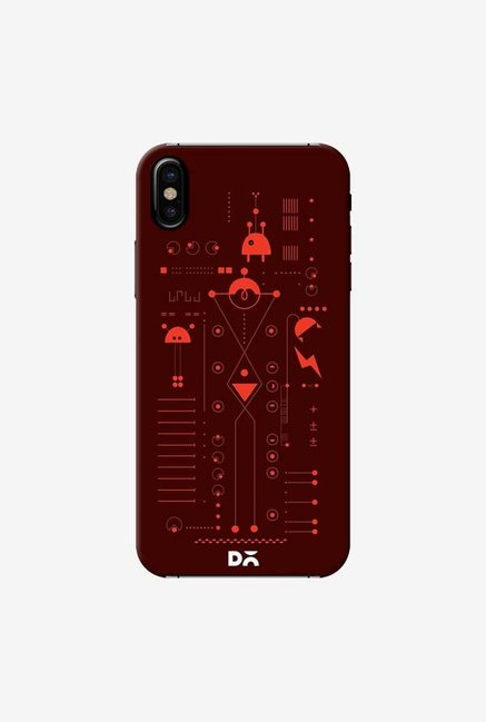 DailyObjects Cosmo Series Brown Case Cover For iPhone X