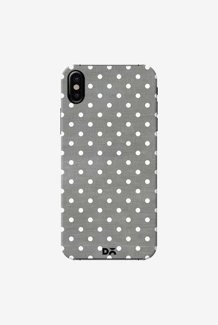 DailyObjects Dark Gray Swiss Dots Case Cover For iPhone X