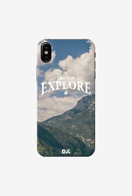 DailyObjects Do Not Stop Explore Case Cover For iPhone X
