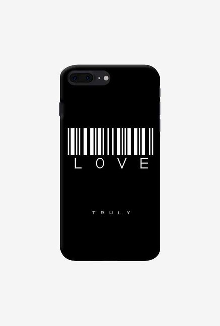 DailyObjects Barcode Love Truly Black Case For iPhone 7 Plus