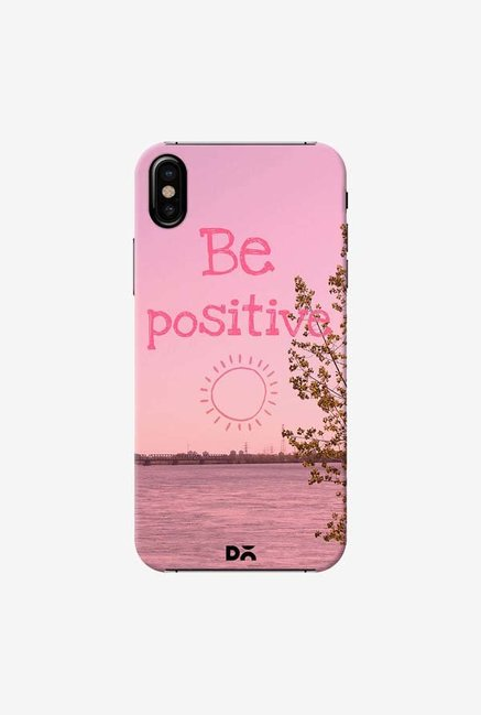DailyObjects Be Positive Case Cover For iPhone X