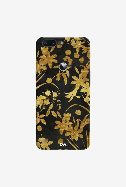 DailyObjects Golden Flowers 2 Case Cover For OnePlus 5T