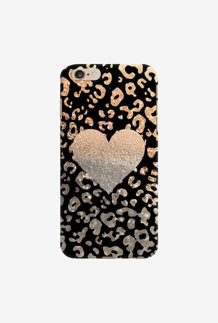 DailyObjects Gold Heart Leo Black Case For iPhone 6 Plus