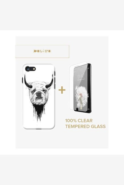 DailyObjects Bull Dog Case For iPhone 7 Combo