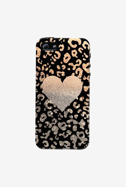 DailyObjects Gold Heart Leo Black Case For iPhone 5/5S