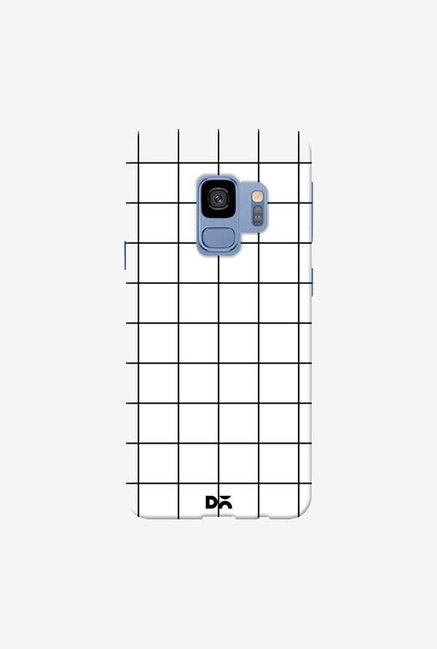 DailyObjects Grid White Case Cover For Samsung Galaxy S9