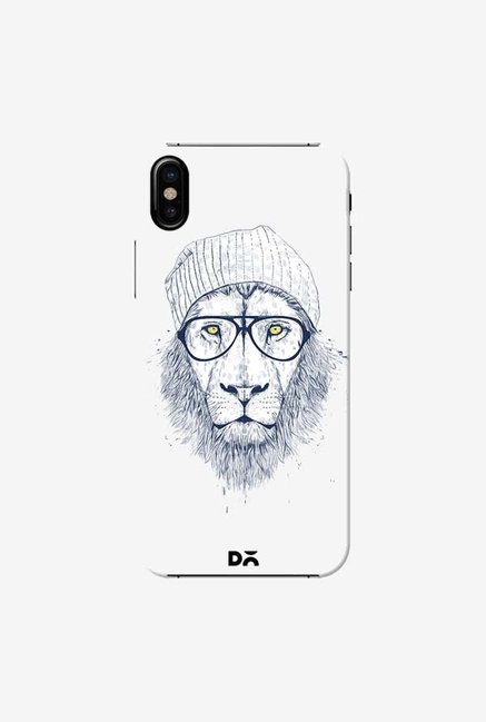 DailyObjects Cool Lion White Case Cover For iPhone X