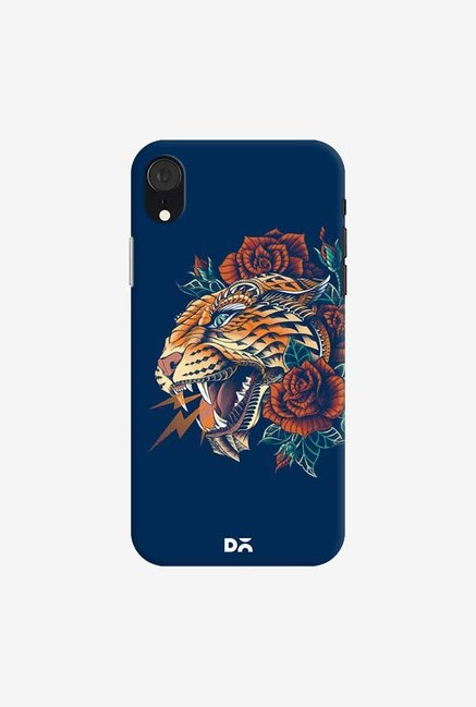 DailyObjects Ornate Leopard Blue Case Cover For iPhone XR