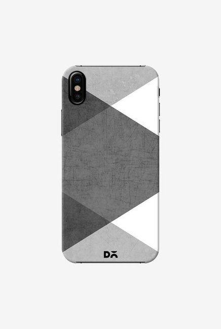 DailyObjects Black and White Triangles Case Cover For iPhone X