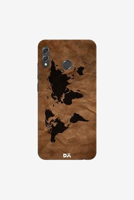 DailyObjects Wrinkled World Map Case Cover For Huawei Honor 8X