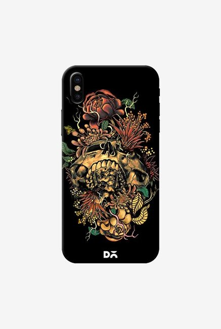 DailyObjects Flora Skull 2 Case Cover For iPhone X