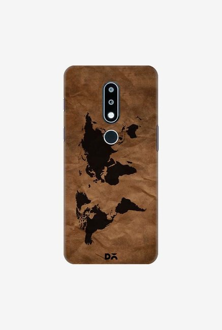 DailyObjects Wrinkled World Map Case Cover For Nokia 6.1 Plus