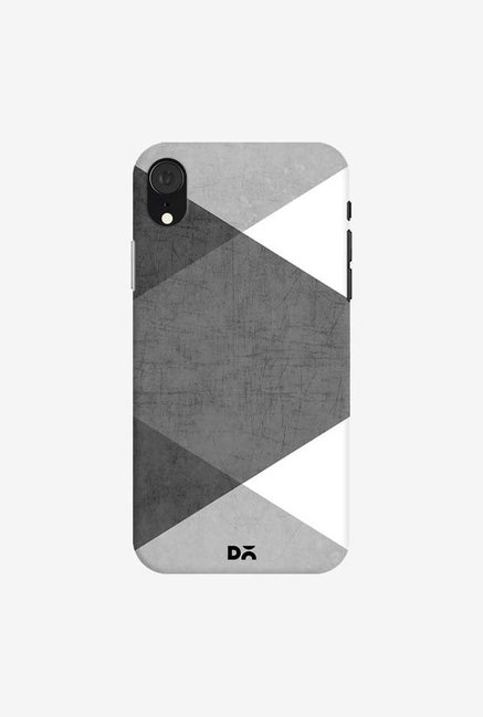DailyObjects Black and White Triangles Case Cover For iPhone XR