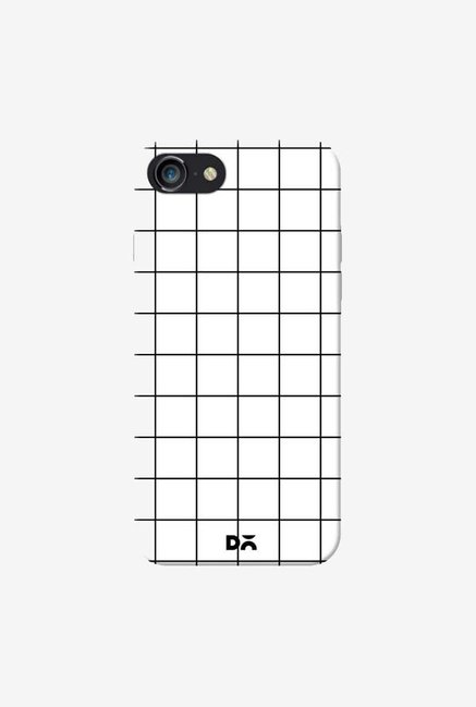DailyObjects Grid White Case Cover For iPhone 8