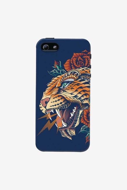 DailyObjects Ornate Leopard Blue Case For iPhone 5/5S