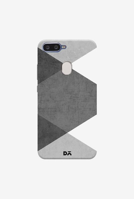 DailyObjects Black and White Triangles Case Cover For Oppo F9