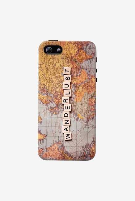 DailyObjects Wanderlust Map Case For iPhone 5/5S