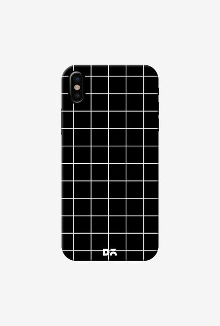 DailyObjects Grid Black Case Cover For iPhone X