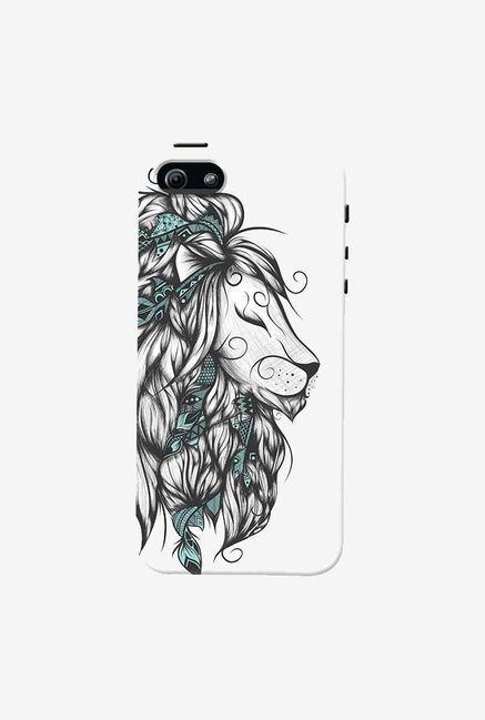 DailyObjects Poetic Lion Turquoise Case For iPhone 5/5S