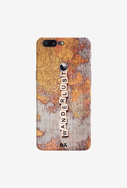 DailyObjects Wanderlust Map Case Cover For OnePlus 5T