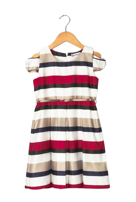 a56798d40ea Buy Peppermint Kids Multicolor Dress With Belt for Girls Clothing Online    Tata CLiQ