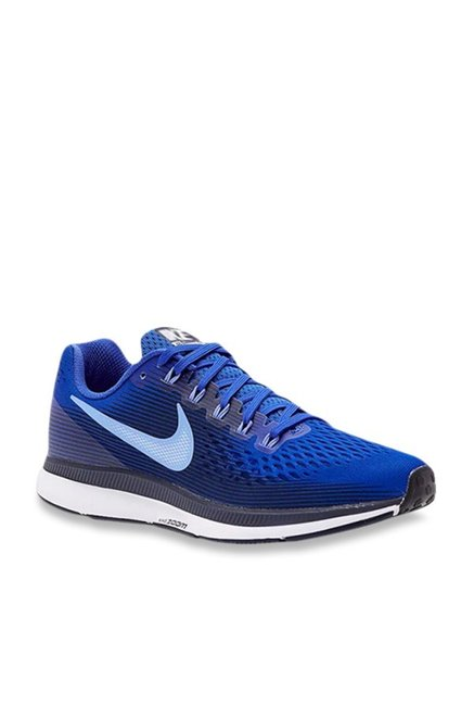 34200ba8e4f4 Buy Nike Air Zoom Pegasus 34 Royal Blue Running Shoes for Men at Best Price    Tata CLiQ
