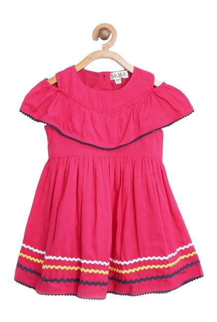 5ca9aedccf930 Buy Bella Moda Kids Pink Printed Dress for Infant Girls Clothing ...