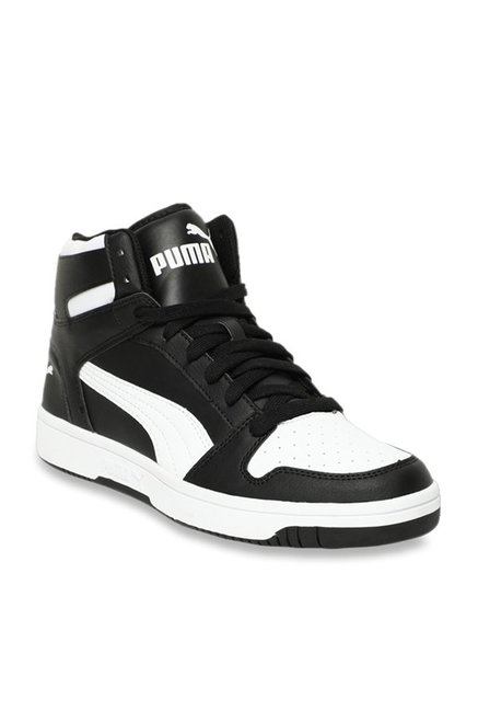fd7e22d8b4 Buy Puma Rebound Lay Up Black & White Ankle High Sneakers for ...