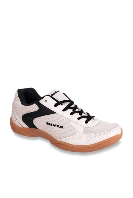 Nivia Flash White Badminton Shoes