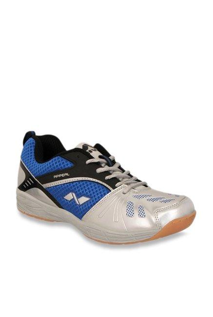 Nivia Appeal Blue   Silver Badminton Shoes