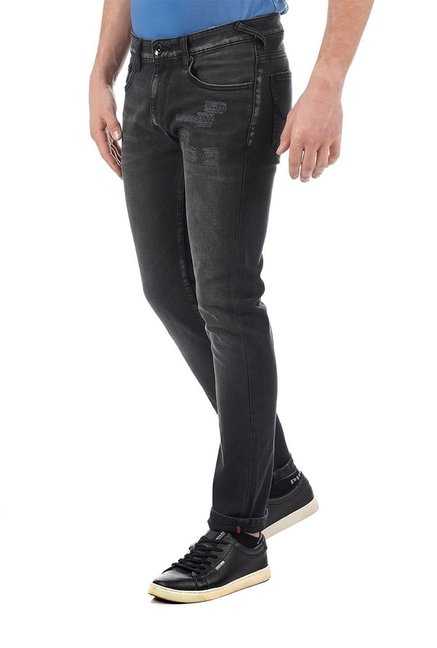Buy Pepe Jeans Black Slim Fit Lightly Washed Distressed