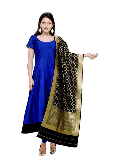 28a10b58d2 Buy Inddus Royal Blue Unstitched Dress Material for Women Online @ Tata CLiQ