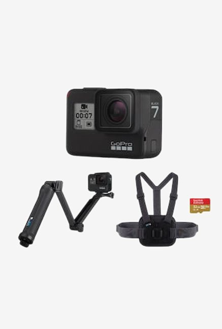 GoPro Hero 7 4K Sports and Action Camera with Free Accessories  Black