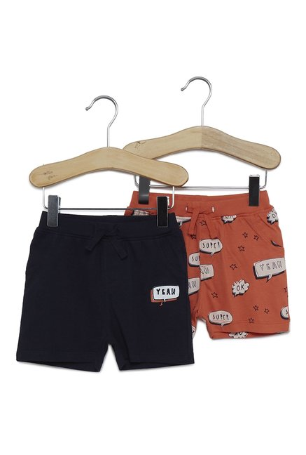 45bd5878194f Buy Baby HOP by Westside Navy Shorts Set Of Two for Infants Boys Clothing  Online @ Tata CLiQ