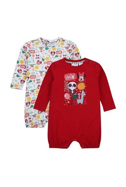 702de91a9de3 Buy Quancious Kids Multicolor Printed Disney Rompers for Infant Girls  Clothing Online   Tata CLiQ