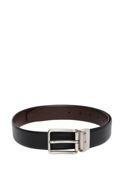 Tommy Hilfiger Black   Brown Formal Leather Reversible Belt for Men