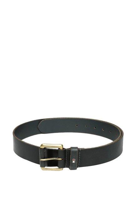 Tommy Hilfiger Dark Grey Casual Leather Belt for Men