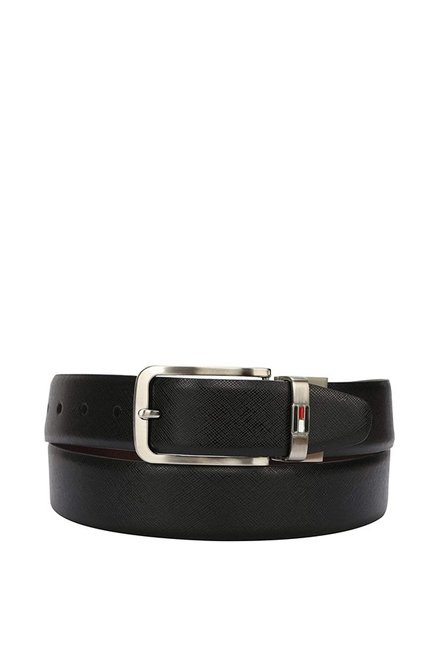 Tommy Hilfiger Black   Brown Formal Leather Reversible Belt for Men