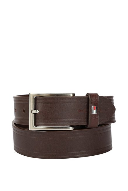 Tommy Hilfiger Brown Casual Leather Belt for Men