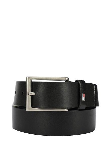 Tommy Hilfiger Black Casual Leather Belt for Men