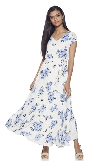 bfd238d24 Buy LOV by Westside White Floral Maxi Dress for Women Online   Tata CLiQ