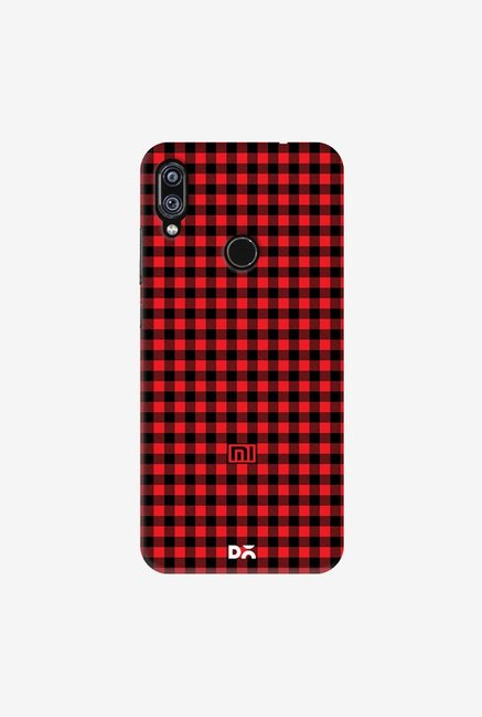 DailyObjects Crimson Gingham Case Cover For Redmi Note 7