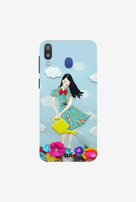DailyObjects Girl In Flowerland Case Cover For Samsung Galaxy M20